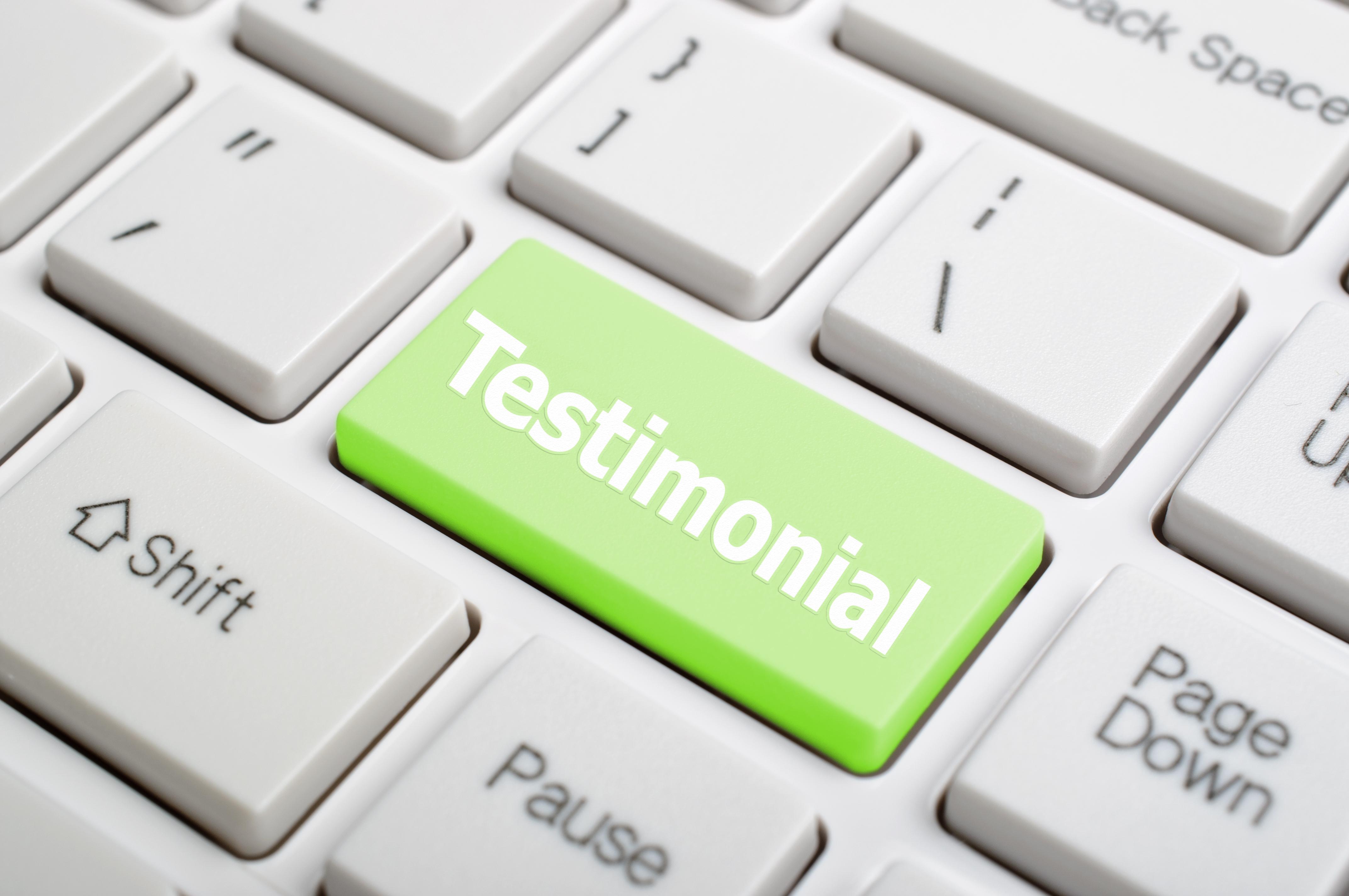 Testimonials and online reivews