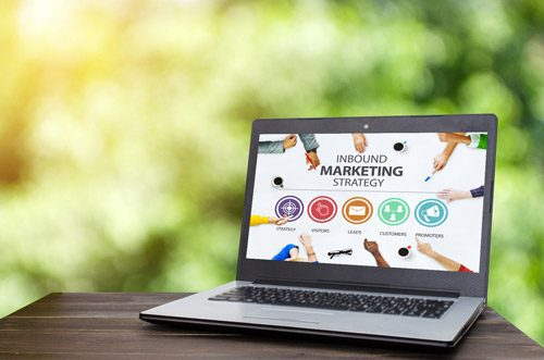 Computer with inbound marketing strategy