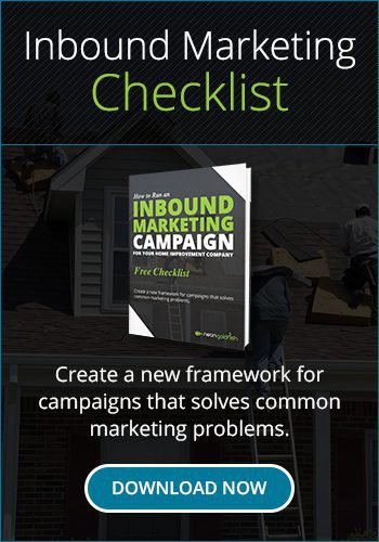 Inbound Checklist for Home Improvement