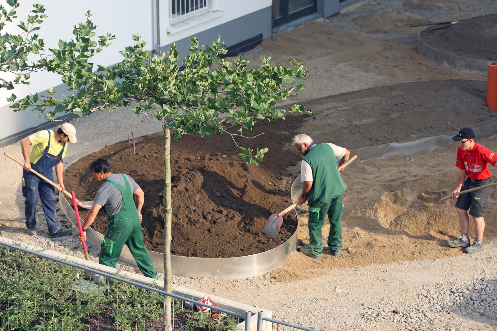 landscape workers